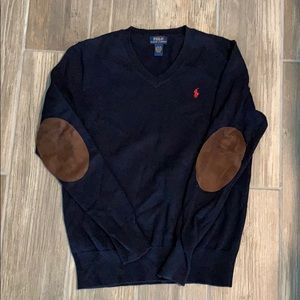 POLO SWEATER BOYS NAVY BLUE SIZE L 14/16